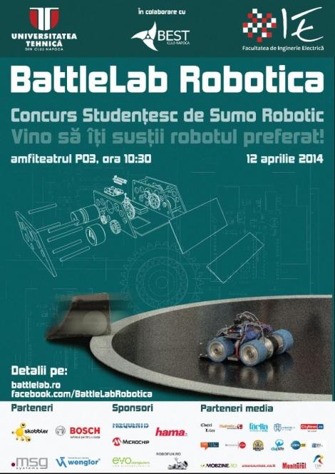 BattleLab Robotica – cea mai mare competitie sumo de roboti din Transilvania @ 12 aprilie