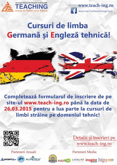 Cursuri de limba Germana si Engleza tehnica!