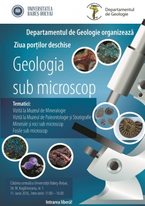"UBB organizeaza Ziua Portilor Deschise ""Geologia sub microscop"""