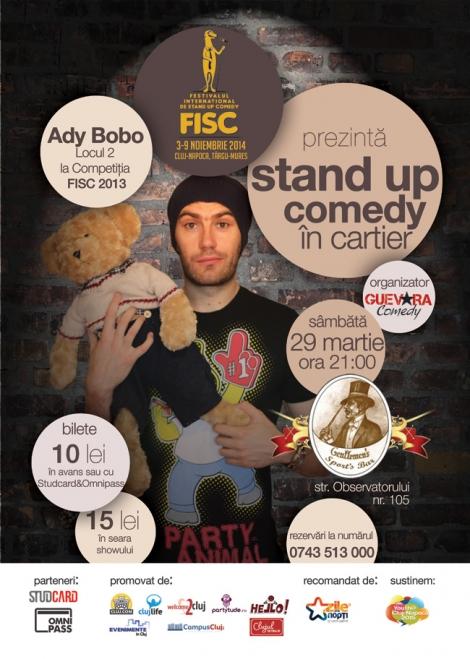 Stand up comedy cu Ady Bobo @ 29 martie Gentlemen's Sport's Bar
