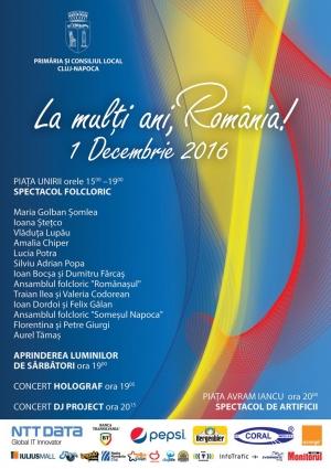 Ziua Nationala a Romaniei se apropie! Vezi ce ti-a pregatit Clujul!