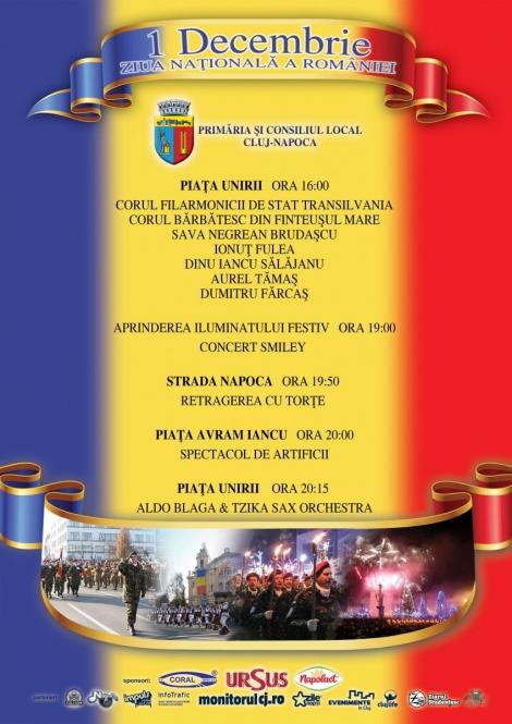 Ziua Nationala a Romanilor in Cluj-Napoca - program detaliat