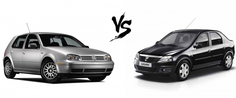 Car battle : Dacia Logan versus Golf 4