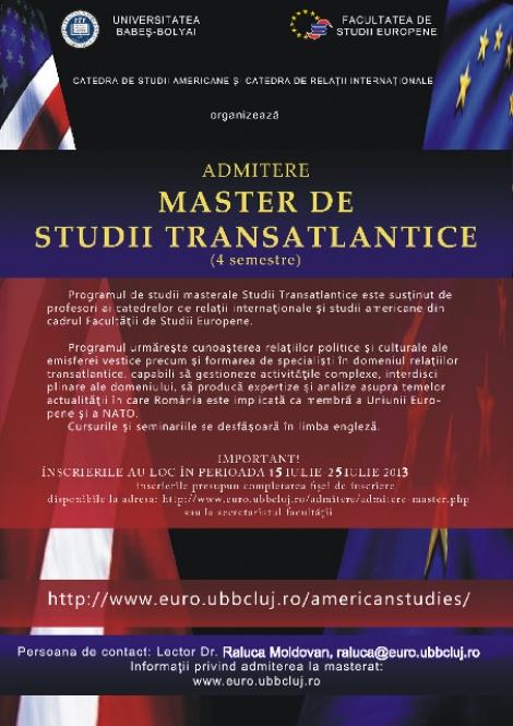 Studii Transatlantice: o relectura a lumii