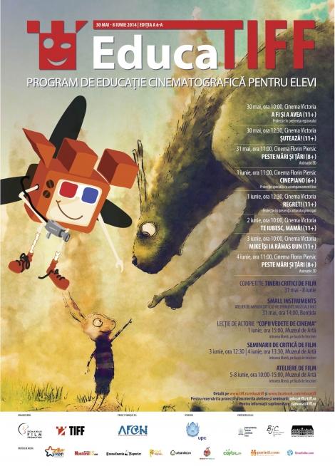 Filme premiate, invitati, un Cinepiano, o lectie de actorie, seminarii de critica de film si ateliere de animatie ===> EducaTIFF 2014