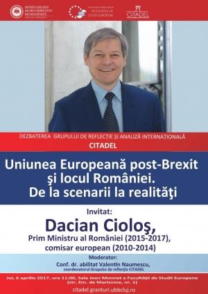Fostul premier, Dacian Ciolos, vine in vizita la UBB