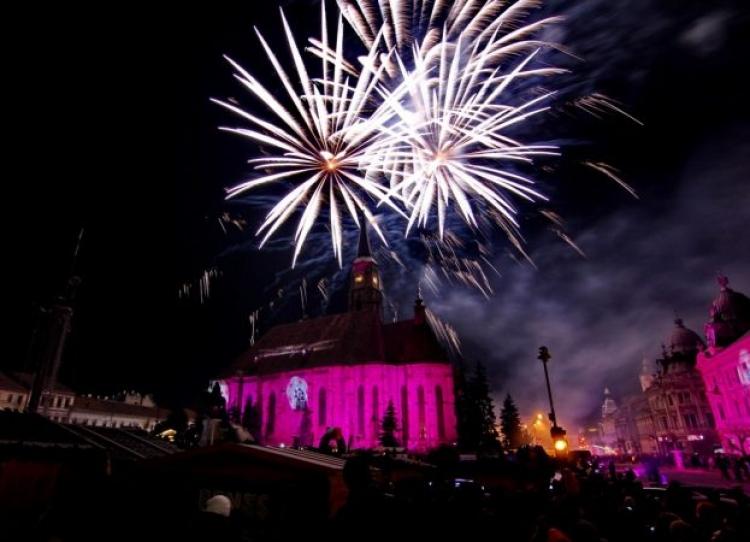 Artificii si muzica buna in Piata Unirii de Revelion 2020