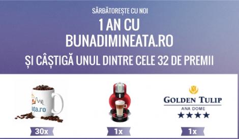 Bunadimineata.ro sarbatoreste 1 an si ofera 32 premii atractive