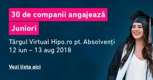 800 de joburi pentru Juniori la Targul Virtual Hipo.ro pentru Absolventi 2018