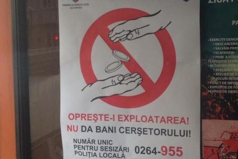 Spune NU cersetoriei! Sustine campania organizata de Primaria Cluj!
