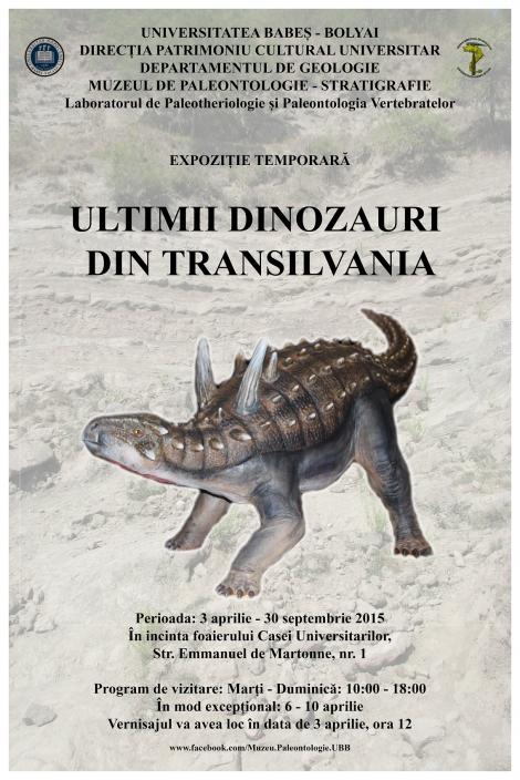 """Ultimii dinozauri din Transilvania"" pot fi vazuti la Muzeul de Paleontologie-Stratigrafie"
