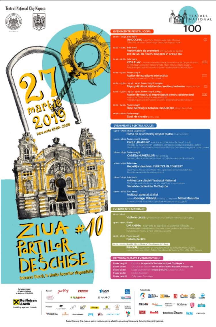 Ziua Portilor Deschise la Teatrul National din Cluj-Napoca. Evenimente creative pentru toate varstele