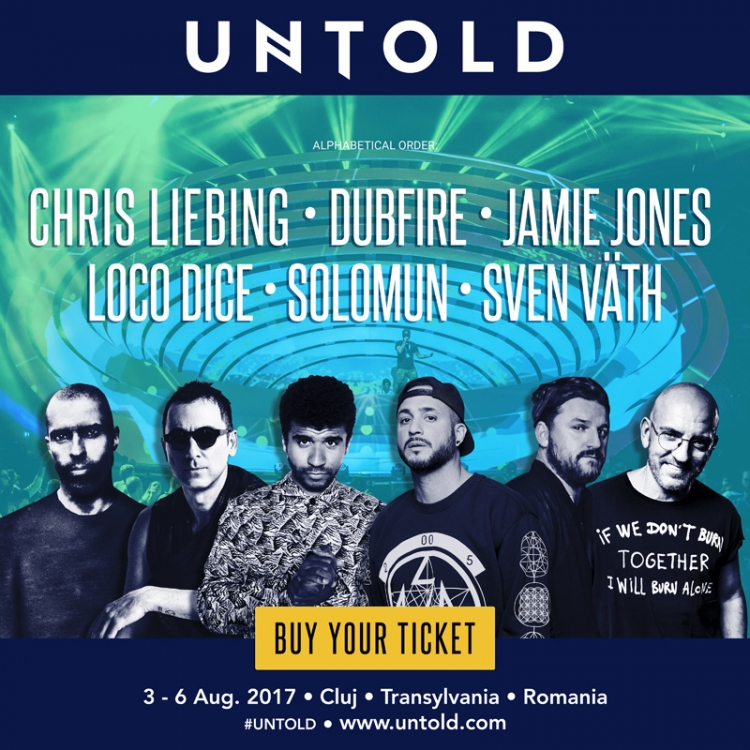 Solomun, Sven Vath, Chris Liebing, Dubfire, Jamie Jones si Loco Dice urca pe scena Galaxy la UNTOLD 2017