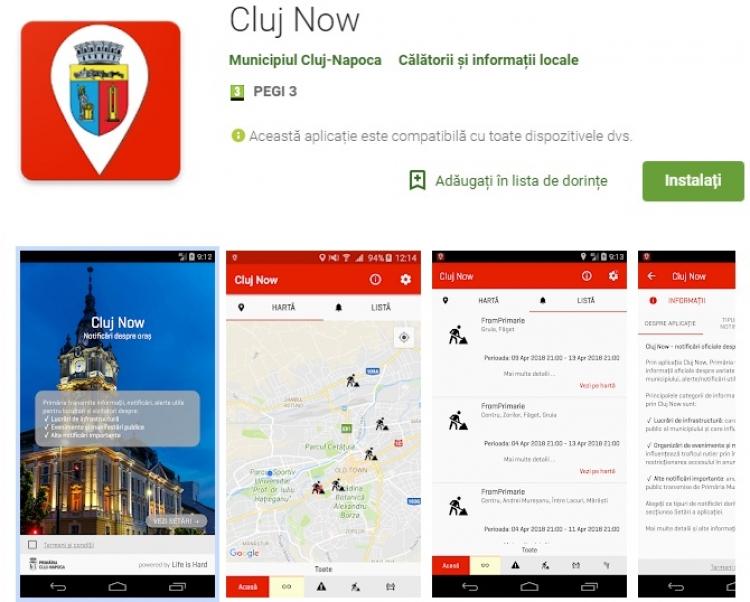Primaria Cluj-Napoca pune la dispozitia locuitorilor orasului si turistilor o noua aplicatie: Cluj Now