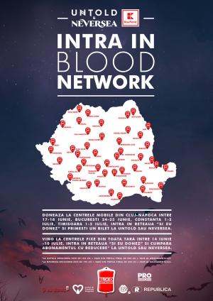 Doneaza sange la caravana Blood Network si mergi gratis la UNTOLD sau NEVERSEA
