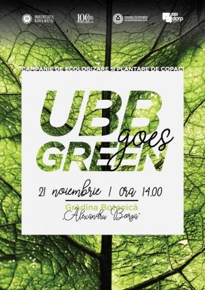 """UBB Goes Green"" printr-un amplu proiect de dezvoltare sustenabila"