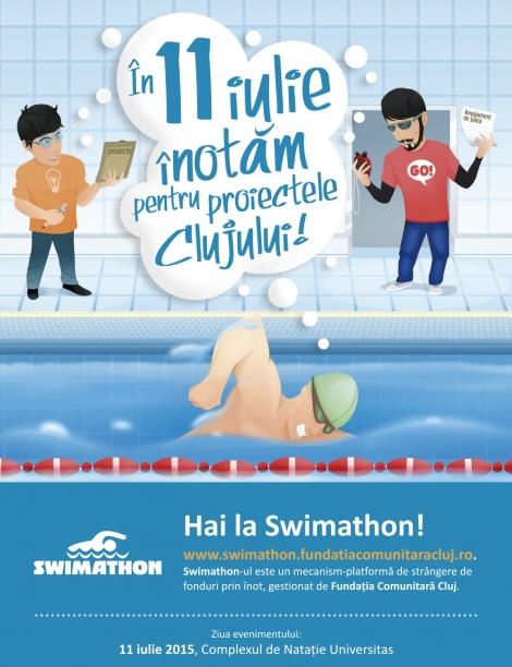 Sambata 11 iulie incepe editia a 7a Swimathon Cluj @ Complexul de natatie Universitas