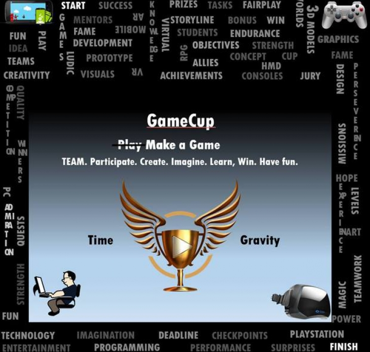 GameCup 1.0 - concurs de game development adresat studentilor de la orice facultate din Romania