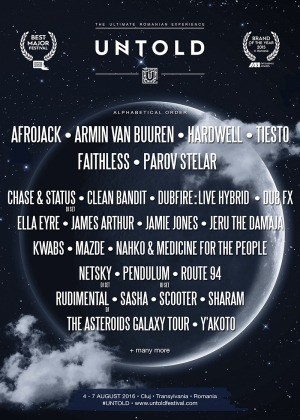 Faithless, Parov Stelar, Scooter, Clean Bandit, Dubfire si alti 20 de artisti internationali confirmati la UNTOLD