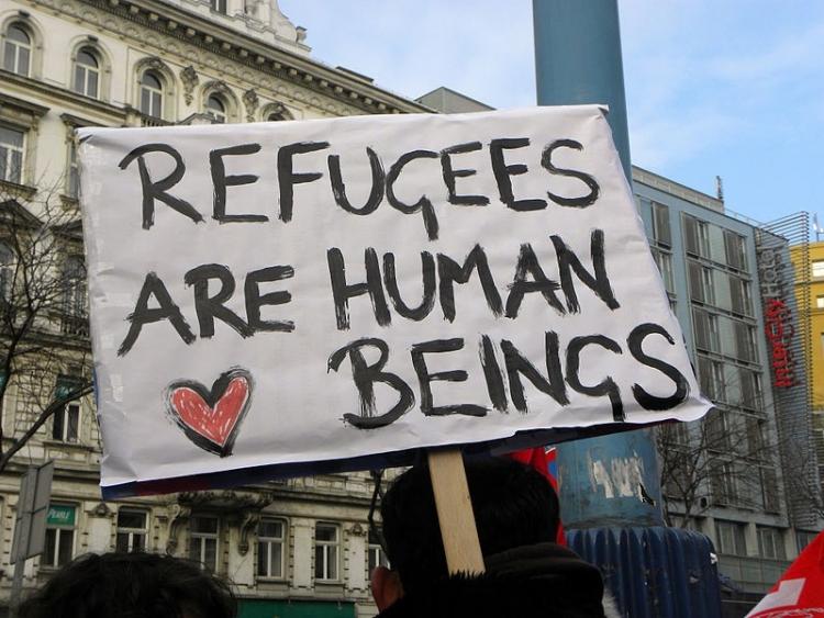 Miting organizat la Cluj pentru sustinerea refugiatilor din Europa