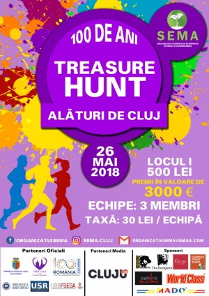 Inscrierile la cel mai mare Treasure Hunt din Cluj au inceput