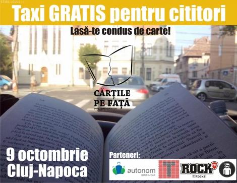 O carte la tine iti aduce o plimbare gratuita cu taxi