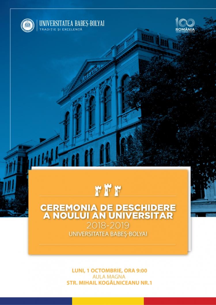 Ceremonia de deschidere a noului an universitar la UBB va avea loc de 1 octombrie