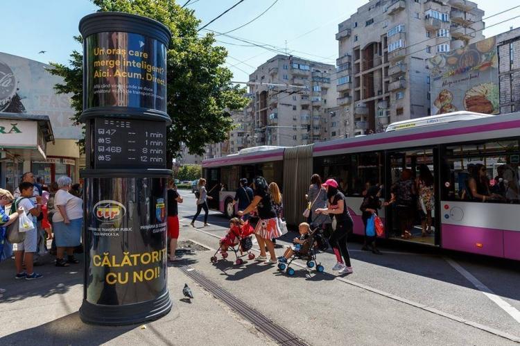 Noi panouri inteligente care vor afisa ora de sosire in statie a autobuzelor