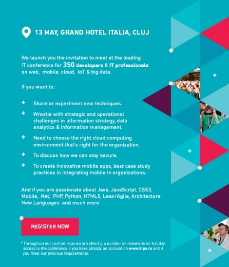 Peste 2 zile Cluj-Napoca gazduieste cel mai important eveniment pentru developeri si specialisti IT : Devtalks 2015