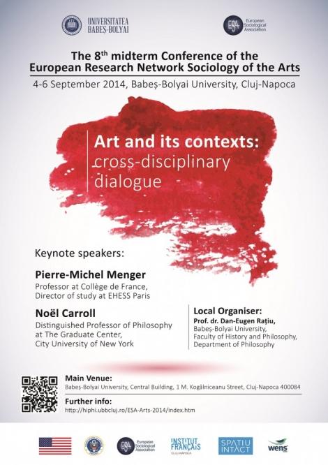 "UBB va gazdui in septembrie conferinta: ""Arta si contextele sale: dialog transdisciplinar"""