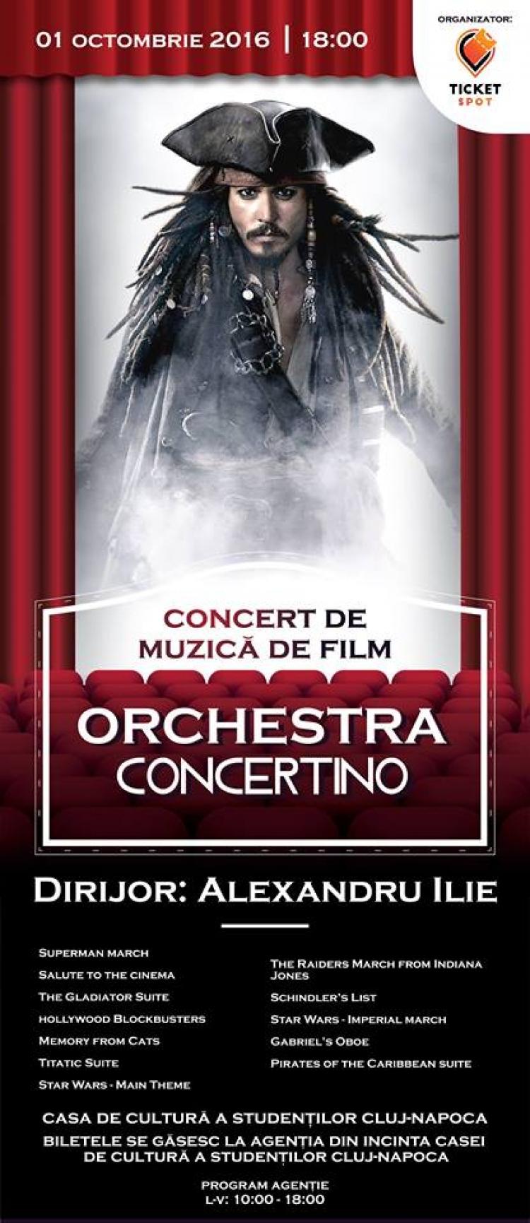 Concert de muzica de film Editia a 2-a organizat de Ticket Spot