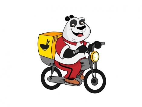 Mancare + Animalut pufos si dragut = Food Panda