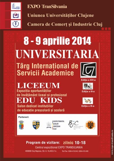 Targul Universitaria @ 8-9 aprilie Expo Transilvania