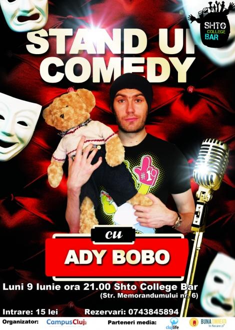 [Concurs] Stand up comedy cu Ady Bobo @ 9 iunie Shto College Bar