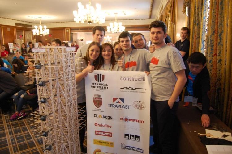 """Studentii UTCN au urcat pe podium din nou la """"Seismic Design Competition"""""""