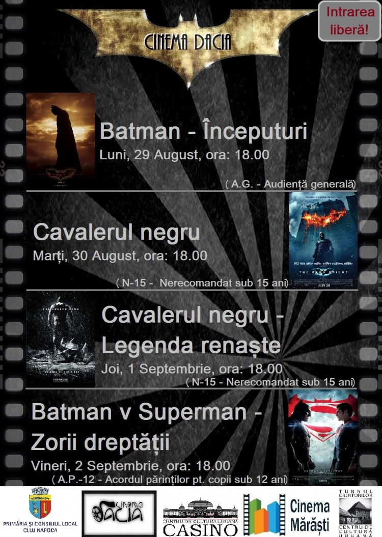 Batman Week la Cinema Dacia (PS: surprizele se tin lant!)