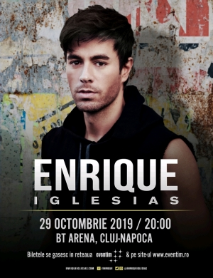 Enrique Iglesias va concerta marti seara pentru prima data in Cluj la BT ARENA