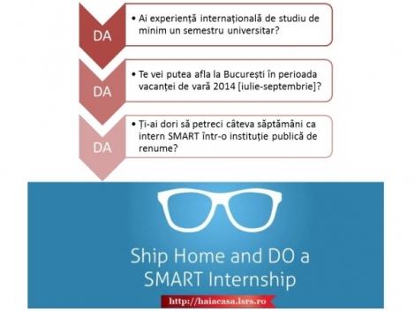 "Au inceput inscrierile pentru ""SMART Internships"". Aplica si tu!"