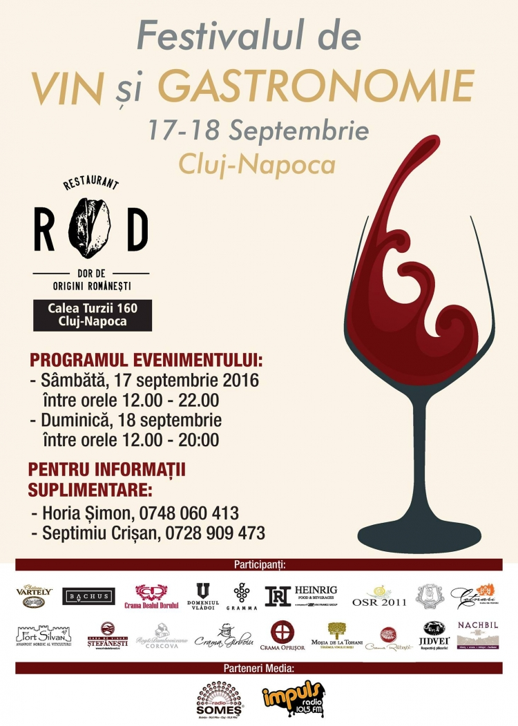 Festivalului de Vin si Gastronomie are loc in acest week-end