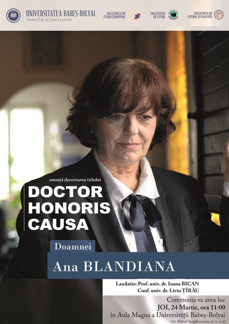 Doctor Honoris Causa pentru scriitoarea Ana Blandiana