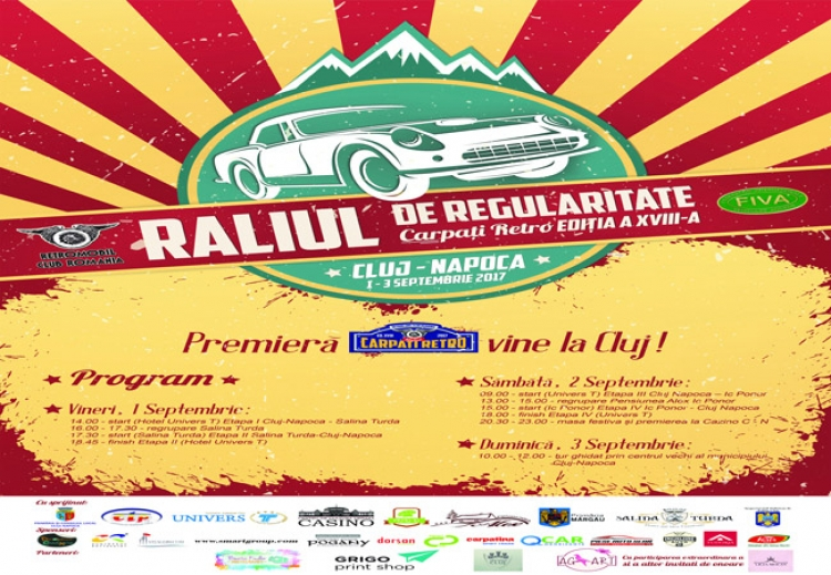 Raliul masinilor retro deschide sezonul de toamna la Cluj-Napoca