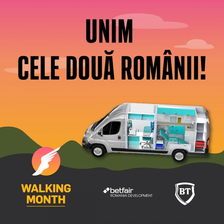 "Start inscrierilor la Walking Month 2019: castiga premii si ajuta-ne sa ""Unim cele doua Romanii"""