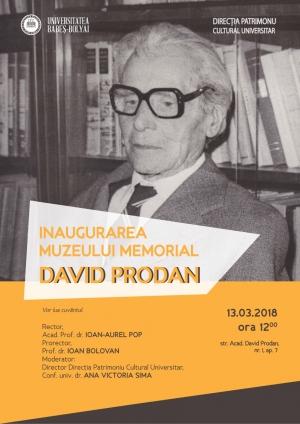 UBB va fi inaugurat Muzeul Memorial David Prodan