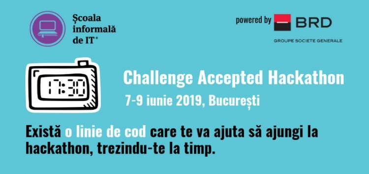 Școala informală de IT a deschis înscrierile pentru a V-a ediție Challenge Accepted - Hackathon