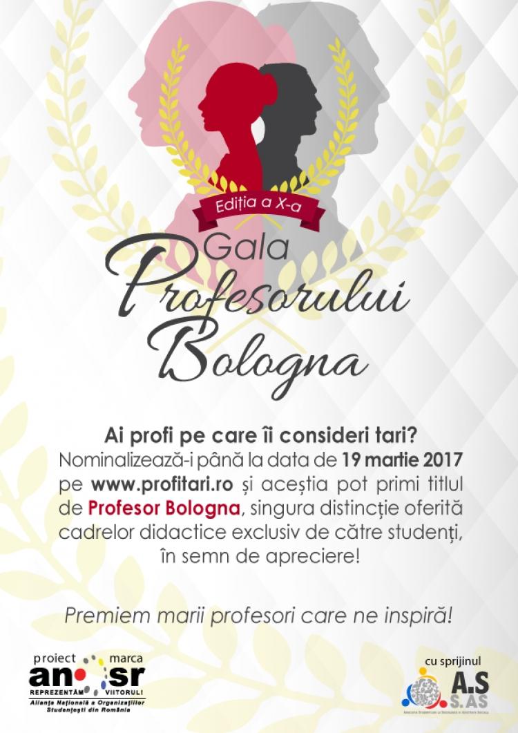 Sustine-ti profesorul preferat la Gata Profesorului Bologna