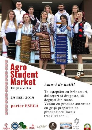 """Piata studenteasca de produse agroalimentare """"Agro Student Market"""" isi deschide portile miercuri, 29 mai"""