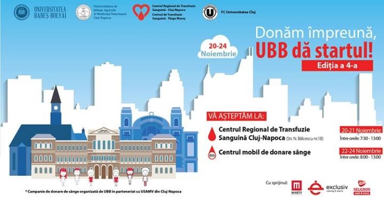 Donatorii UBB de sange au stat la coada pentru a ajuta la centrul mobil de donare