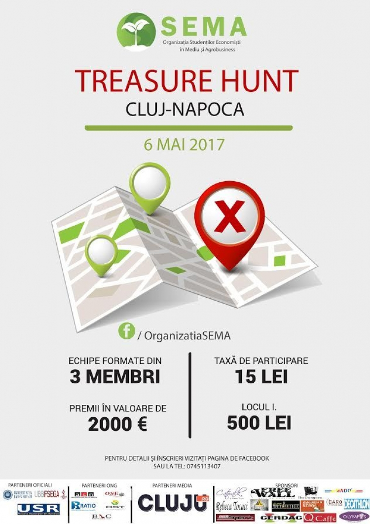 Cel mai mare Treasure Hunt din Cluj-Napoca revine cu o nouă editie