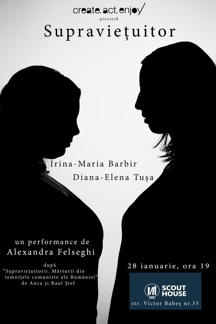 """Are loc premiera performance-ului """"Supravietuitor"""", realizat de Alexandra Felseghi"""