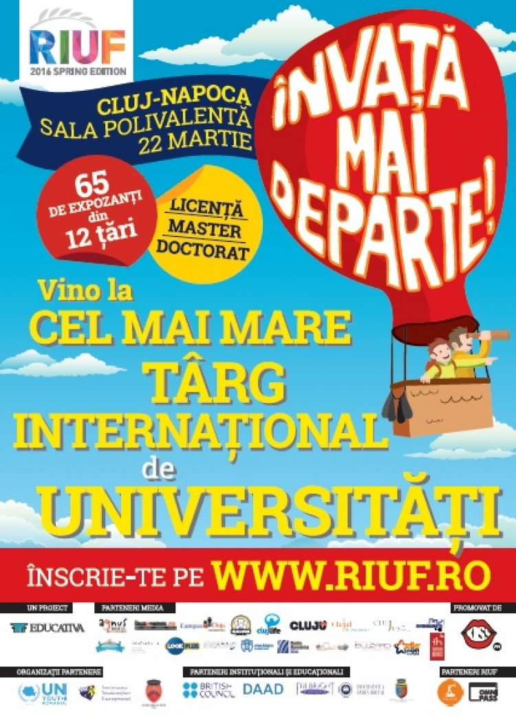 Universitati aflate in premiera in Romania si informatii despre fonduri de burse de peste 3.000.000 Euro la RIUF - The Romanian International University Fair